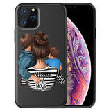 Super Dad Mom Baby Girl Twin Shell High Quality Soft Silicone TPU Case For iPhone 11 11 Pro Max