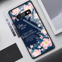 Heart Print Tempered Glass Case For Samsung Galaxy S10 S10 Plus S10e