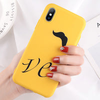 Funny Letter Case For iPhone XR XS Max X 8 7 6 Plus