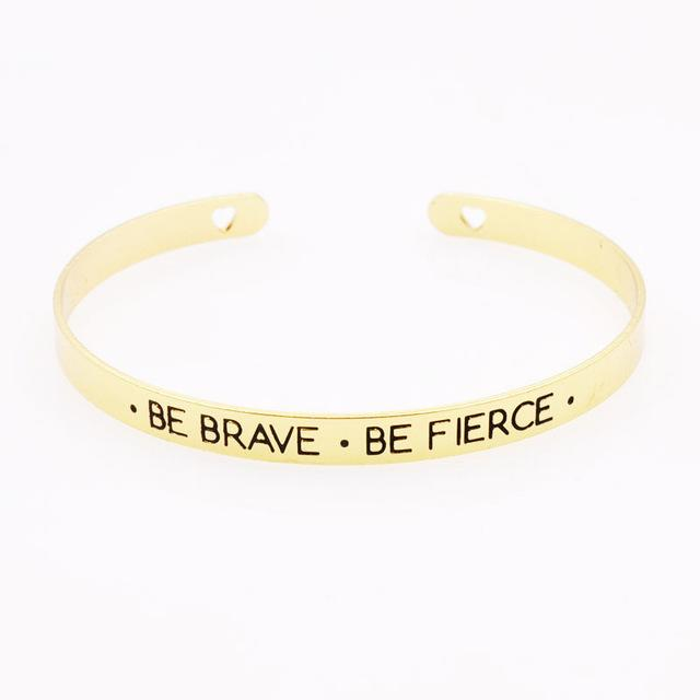 Fashion accessories jewelry brave letter wish design cuff bangle lovers'