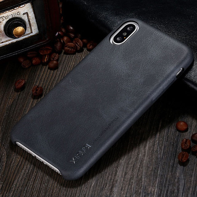 Ultra Light 28g and Slim 0.68mm Leather Case For iPhone X XS XR XS Max