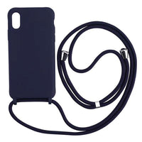 Luxury Soft Silicone Case with Crossbody Necklace Lanyard Strap for iPhone 11 Series