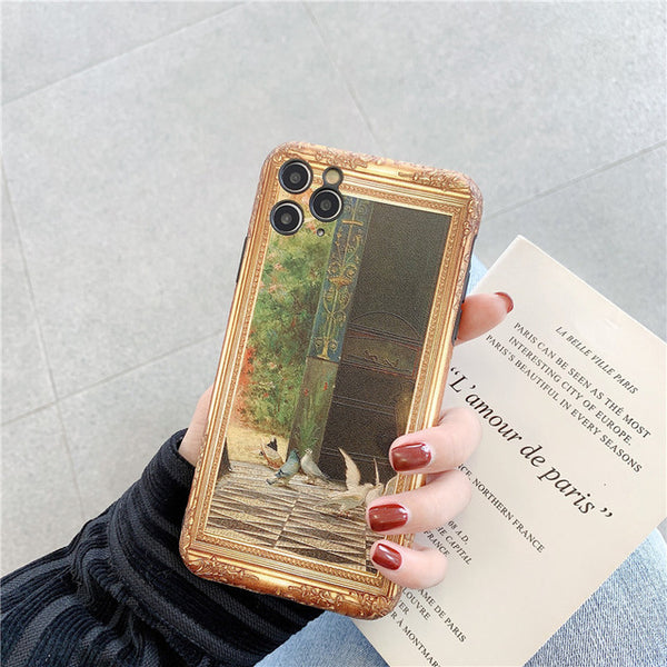 Luxury Retro Art Oil Painting Full Protection Case For iphone 11 Series