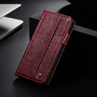 Luxury Business Genuine Leather Cases For iPhone X 8 7 Plus 6 6s Plus
