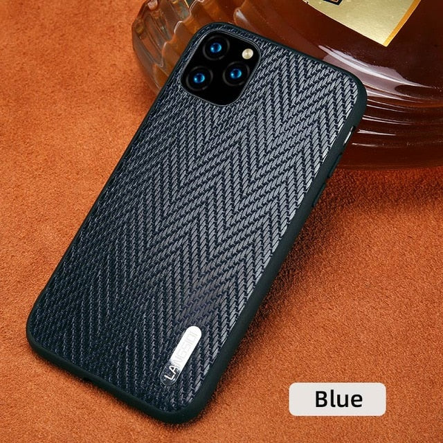 Genuine Cowhide Leather Bark Grain Heavy Duty Protection Case For Apple iPhone 11 Pro Max X XS Max XR