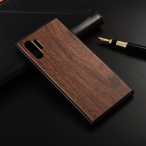 Slim Wood Back Cover TPU Bumper Case for Samsung Note 10