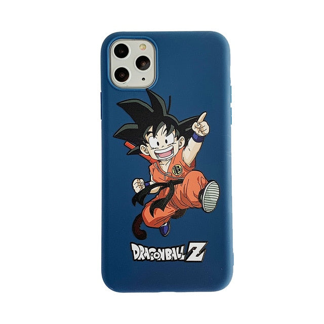 Cute Dragon Ball Z Soft Silicone Anti-knock Back Cover Case For iPhone 11 Series