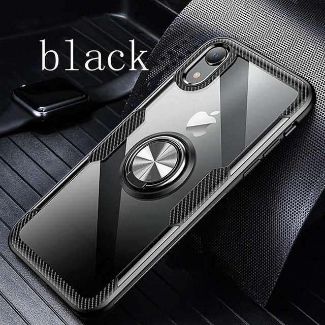 Car Magnetic Ring Holder Case For iPhone X XS XR XS MAX 8 Plus 7 6