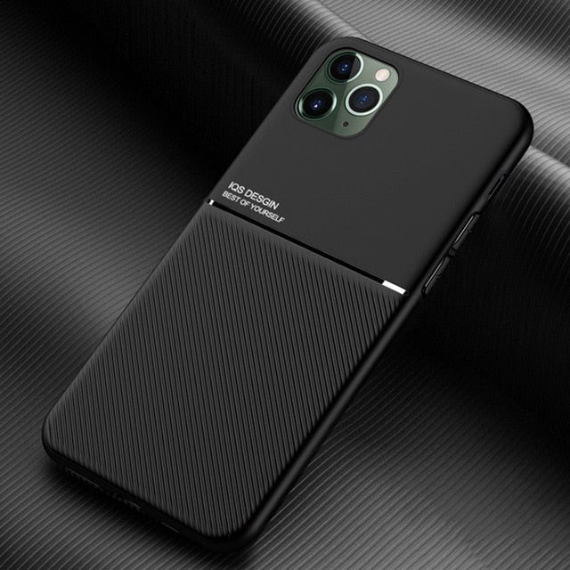 Brand New Design Ultra Thin Car Magnetic Soft Cover Case for iPhone 11 Pro Max X XR XS Max