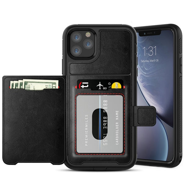 Luxury Magnetic Flip Wallet Retro Multifunction Leather Case For iPhone 11 Pro Max X XR XS Max