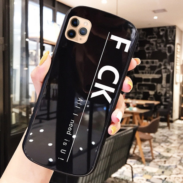 Luxury Drop Proof Mirror Soft TPU Glass Back Cover Case for iPhone 11 Series