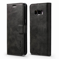 Luxury Leather Wallet Flip Cover For Funda Samsung S9 S9 Plus