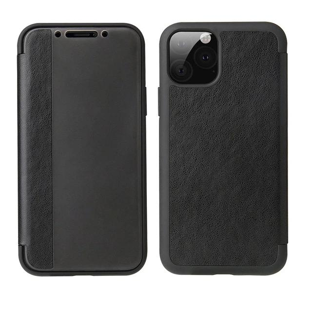 View Window PU Leather Transparent Matte Phone Case Holder For iPhone 11 X Xr Xs Max