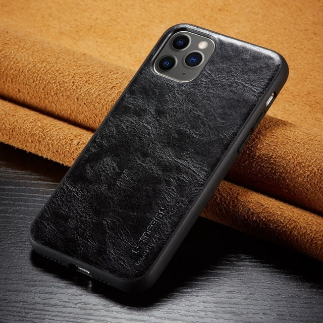 Luxury Slim Leather Back Case for iPhone 11 Pro MAX XS XR X 6 6s 7 8 Plus