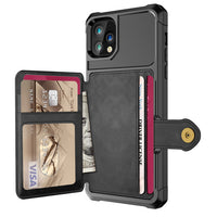 Credit Card PU Leather Flip Wallet Case for iPhone 11 Pro Max