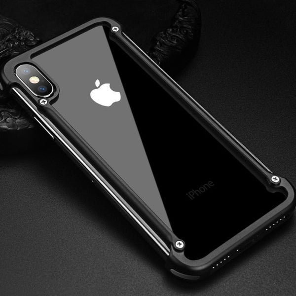 Aluminum Metal Bumper Case For iPhone X XS XS MAX XR