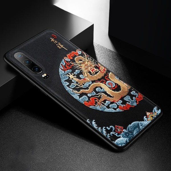 Emboss Leather Huawei Case