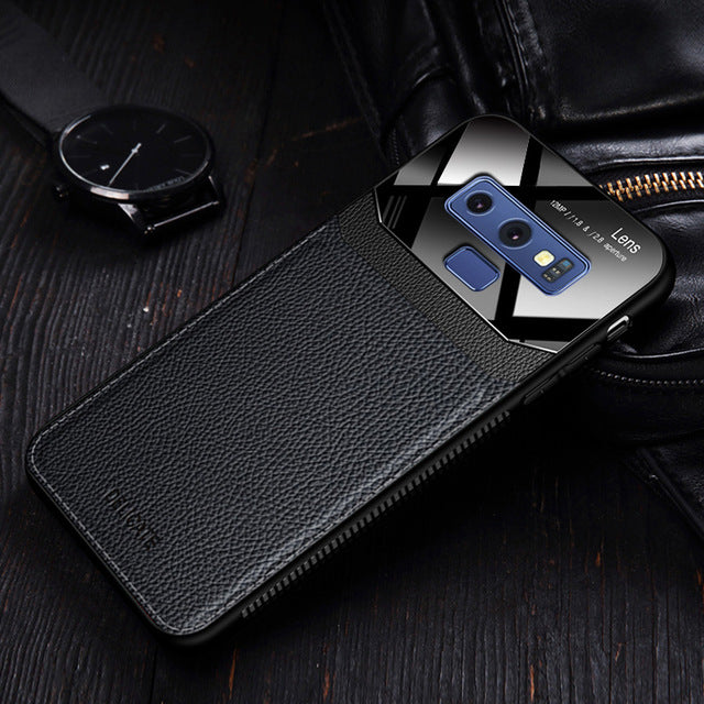 Leather Mirror Shockproof Phone Case for Galaxy Note 9 Note 8