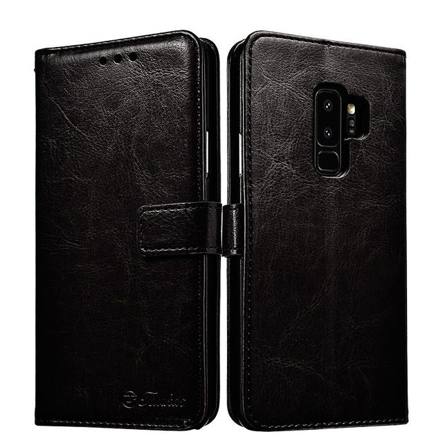 Leather Coque Case For Samsung Galaxy S9 S9 Plus