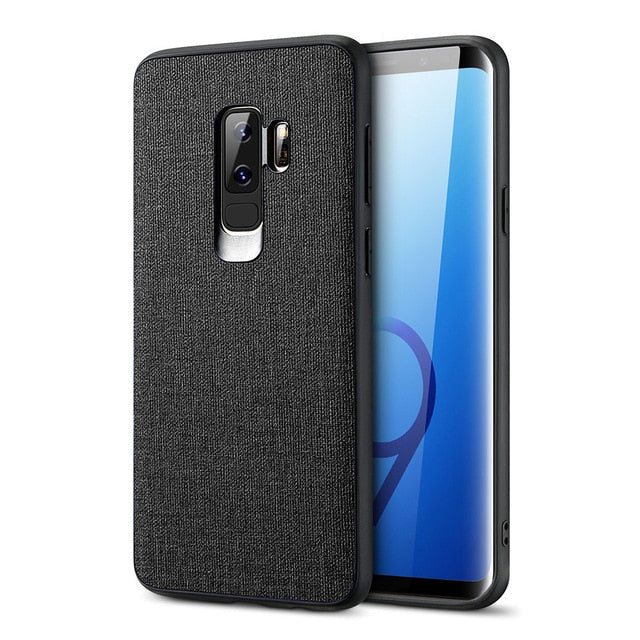 official photos ce9a1 9430c Fabric Leather Case For Samsung Galaxy S8 S9 Plus Note 9 8