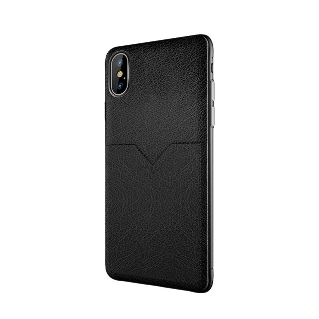 For iPhone XS Max Case Business Leather Back Cover