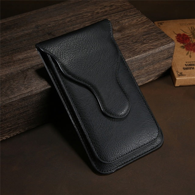 Universal Leather Flip Phone Bag Case For iPhone X 8 7 6 Plus
