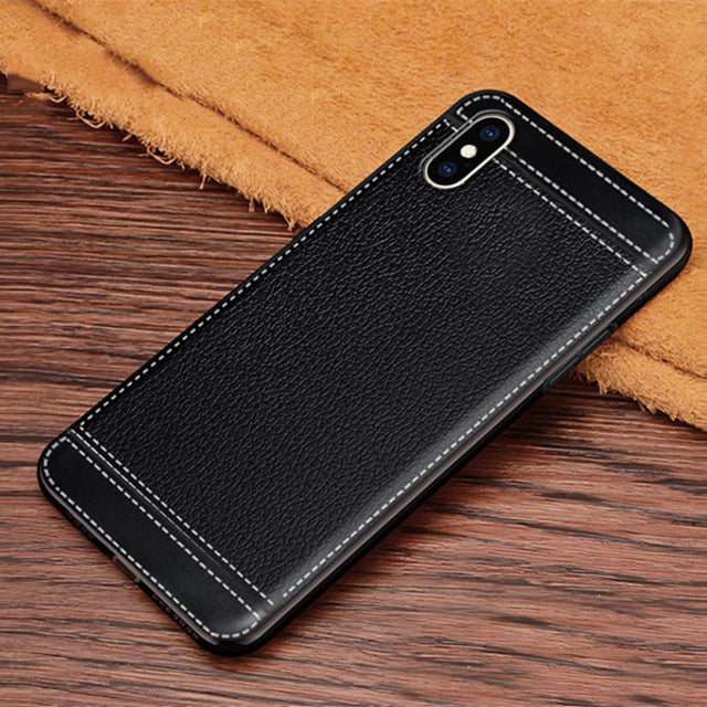 Ultra-thin Leather Texture For iPhone X XS Max XR 6 6s 7 8 Plus