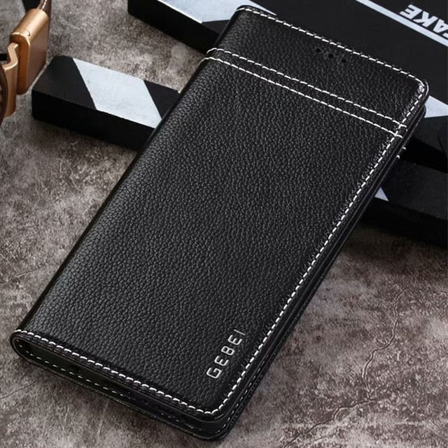 Luxury Original Genuine Leather Flip Unique Magnet Design Stand Case For Galaxy Note 9