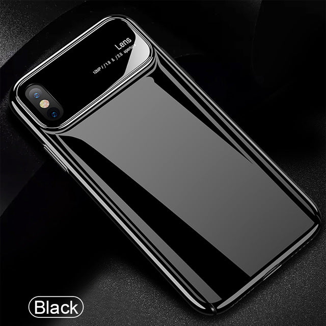 Luxury Glass Protective Phone Case for iPhone X