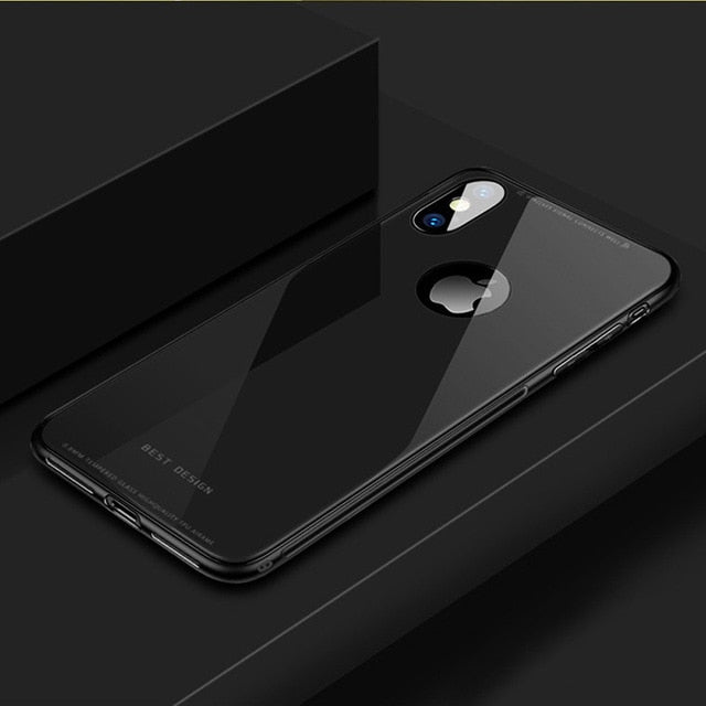 Glass Case Silicone Frame Shock Proof For iPhone X XS Max XR 8 Plus
