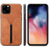 Elastic Card Slot Anti Fall Leather Case Cover For Iphone 11 Pro Max X Xr Xs Max