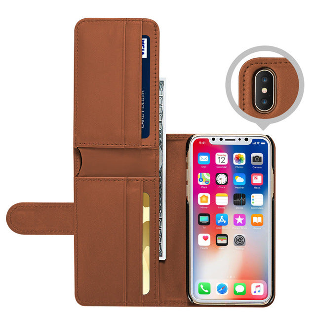 Especially For iPhone X Case Leather Wallet Case