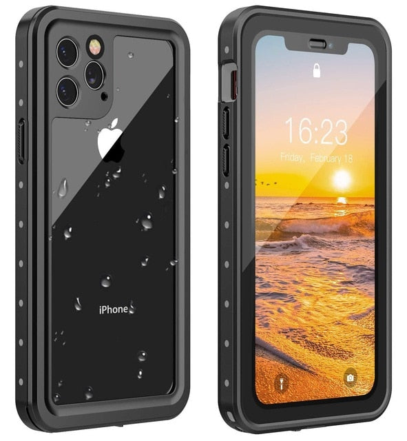Waterproof Case Full Body Rugged with Built in Screen Protector Shockproof Dustproof Case for iPhone11 11 Pro 11 Pro Max
