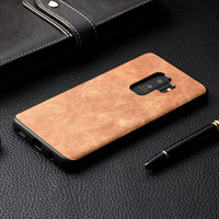 Samsung Galaxy S9 S9 Plus Luxury Vintage PU Leather Case