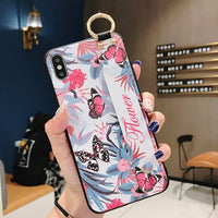 Soft TPU Case Cover with Wrist Strap For iphone 11 Pro Max