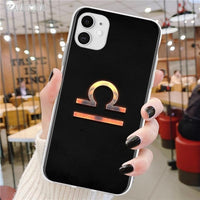 Luxury Zodiac Signs High Quality Soft Silicone Transparent Phone Case for iPhone 11 & 12 Series