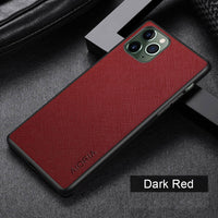 Case for Iphone 11 Series Luxury Vintage Leather Skin Anti-knock Dirt-resistant