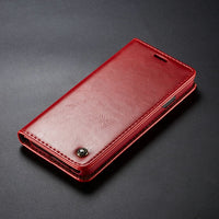 Luxury Magnetic Wallet Leather Case for Samsung Galaxy S10 S10 Plus S10 lite Note 8 9 S6 S7 S8 S9 Plus
