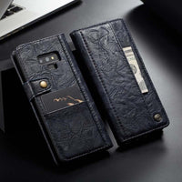 Leather Case Buttons Flip Leather Hold Card For Samsung Galaxy Note 9