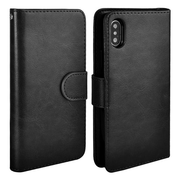 Cover For iPhone X Case Leather PU Wallet Magnetic Detachable