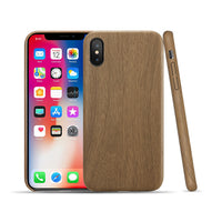 PU Wood Business Phone Case For iPhone X XS Max XR