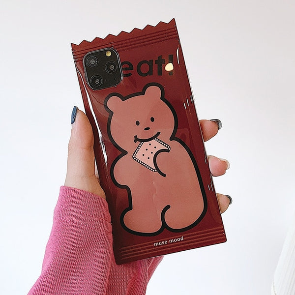 Cartoon Candy Bear Biscuits Chocolate Phone Case for iPhone 11 Series