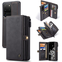 Luxury Zipper Wallet Car Magnetic Leather Case for Samsung S20 Series