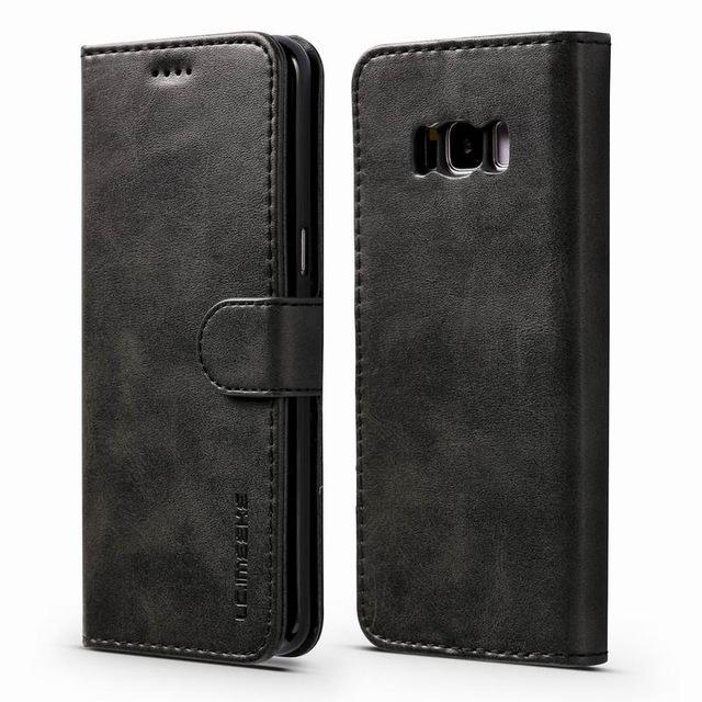 Luxury Leather Flip Case For Samsung Galaxy S8 / S8 Plus
