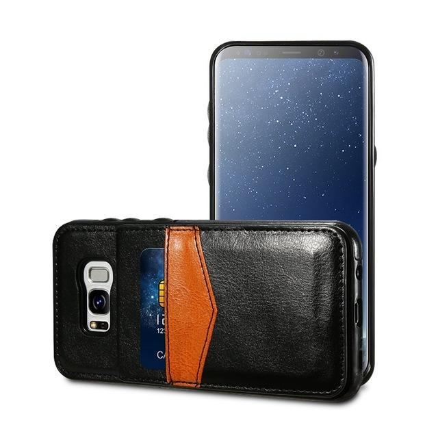 KISSCASE Luxury Wallet Leather Cases For Samsung Galaxy S8 S8 Plus Card Slots Case For Samsung Galaxy S7 S6 edge Cover Capa