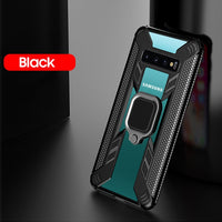 Luxury Ring Holder Bracket Shockproof Armor Case for Samsung Galaxy S10 Series