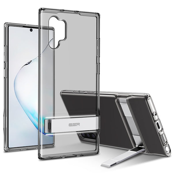 Transparent Shockproof Ultra thin Case with Metal Kickstand for Samsung Galaxy Note 20 & S20 Series