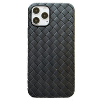 Luxury Classic Breathable Mesh BV Grid Weave Phone Case For iPhone 12 11 Pro Max