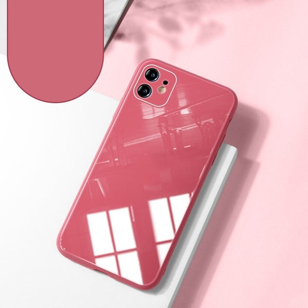 Liquid Silicone Tempered Glass Full Camera Protect Case For iPhone 11 Series