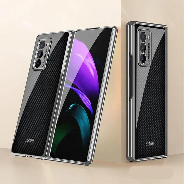 Creative Electroplated Glass Shockproof Case For Samsung Galaxy Z Fold 2